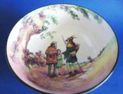 Royal Doulton Under the Greenwood Tree Series 'Robin Hood Friend of the Poor' Footed Bowl c1950